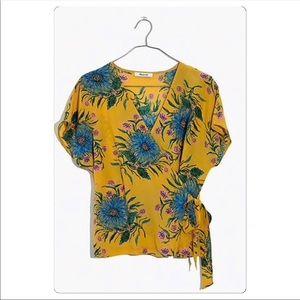 Madewell Silk Kimono Wrap Blouse NWT Medium